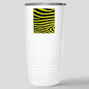 Stylish Yellow And Blac Stainless Steel Travel Mug