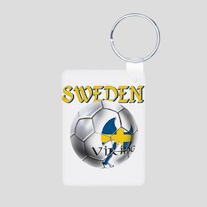 Sweden Football Aluminum Photo Keychain