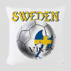 Sweden Football Woven Throw Pillow