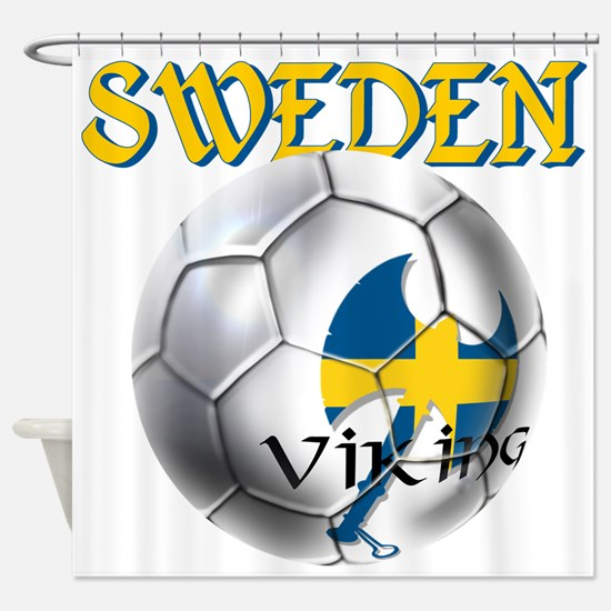 Sweden Football Shower Curtain