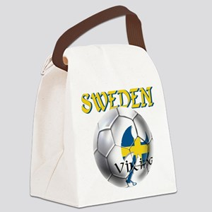 Sweden Football Canvas Lunch Bag