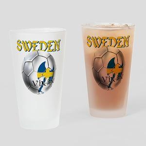 Sweden Football Drinking Glass