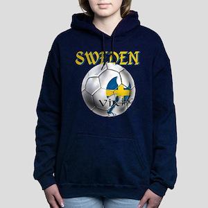 Sweden Football Women's Hooded Sweatshirt