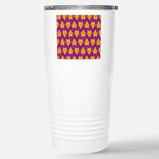 Orange Yellow and Blue  Stainless Steel Travel Mug