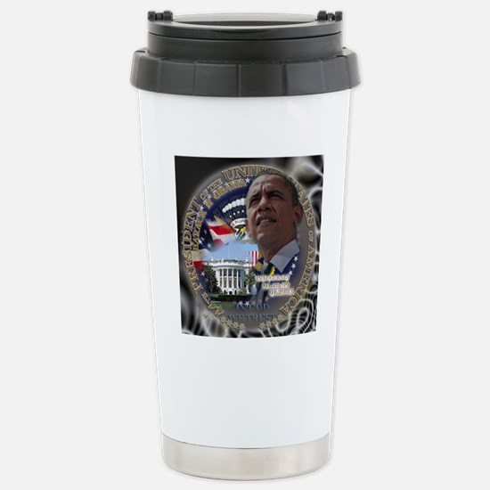 Obama Re-elected Stainless Steel Travel Mug