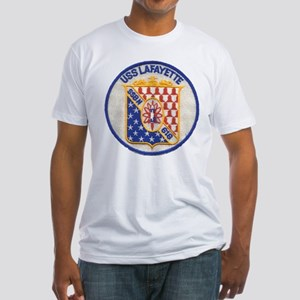 USS LAFAYETTE Fitted T-Shirt