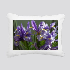 Twirl Purple Iris Flower Photo Rectangular Canvas