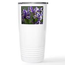 Twirl Purple Iris Flower Photo Travel Mug