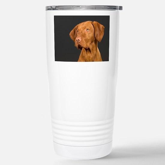 vizsla portrait Stainless Steel Travel Mug