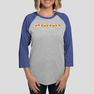 trickortreatcandycornblack Long Sleeve T-Shirt