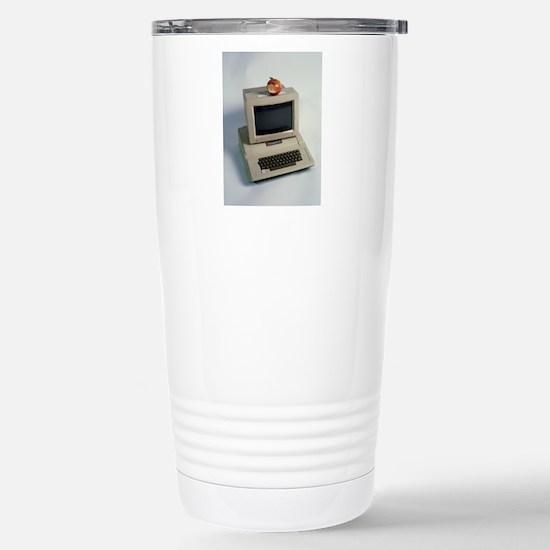 Apple II computer Stainless Steel Travel Mug