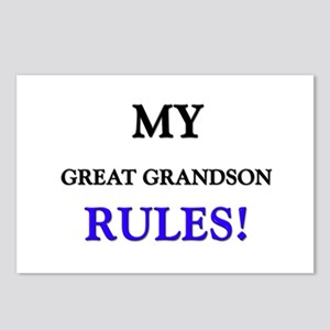My GREAT GRANDSON Rules! Postcards (Package of 8)