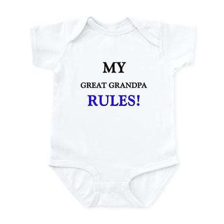 My GREAT GRANDPA Rules! Infant Bodysuit