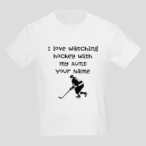 I Love Watching Hockey With My Aunt (Custom) T-Shi