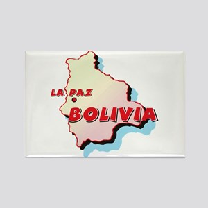 Bolivia Map Rectangle Magnet