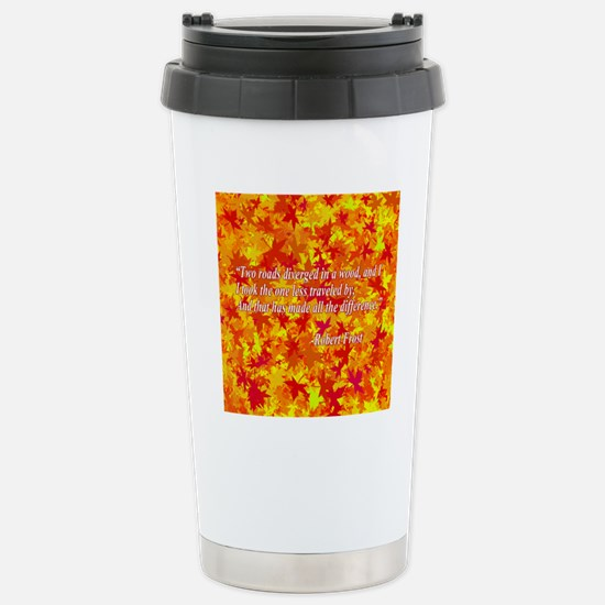 The Road Not Taken Stainless Steel Travel Mug