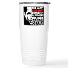 Most Corrupt President Stainless Steel Travel Mug