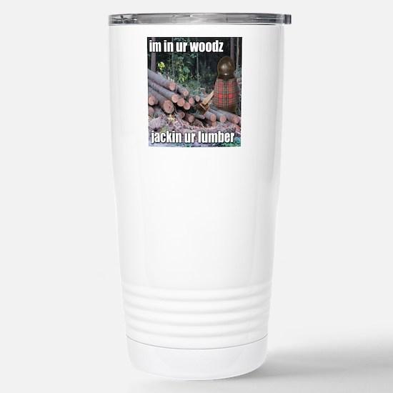 Lumber Jackin Stainless Steel Travel Mug