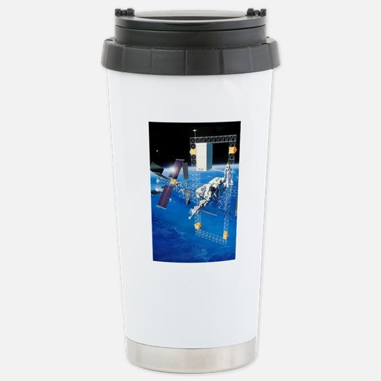 1980s space station des Stainless Steel Travel Mug