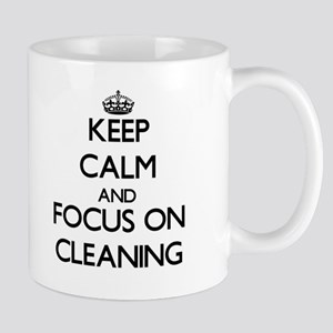Keep Calm and focus on Cleaning Mugs