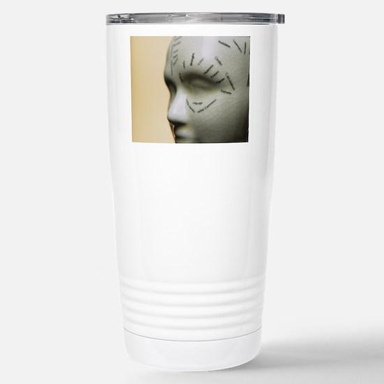Phrenology head Stainless Steel Travel Mug