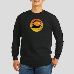 Adventures Happen! Long Sleeve Dark T-Shirt