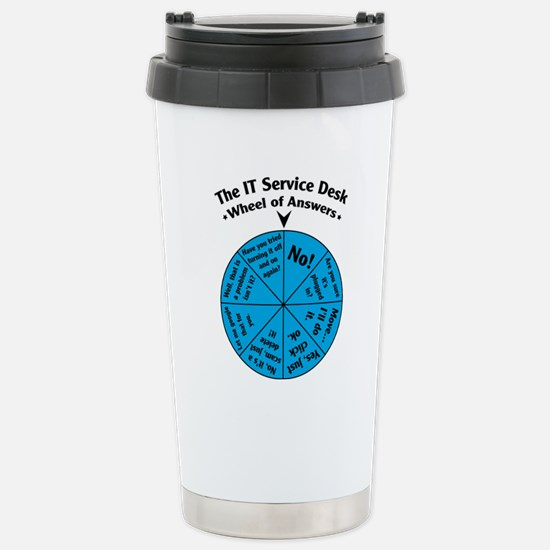 IT Wheel of Answers Stainless Steel Travel Mug