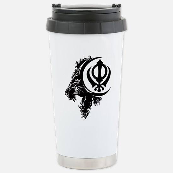 Singh Sikh Symbol 1 Stainless Steel Travel Mug