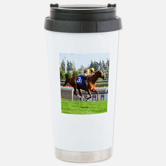 Horse Racing Clock Stainless Steel Travel Mug
