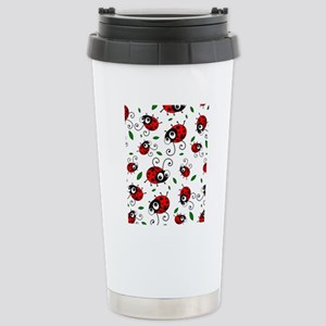 Cute Ladybug pattern Stainless Steel Travel Mug