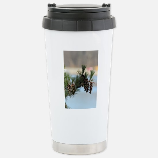 ipadMini_PineCones_2 Stainless Steel Travel Mug