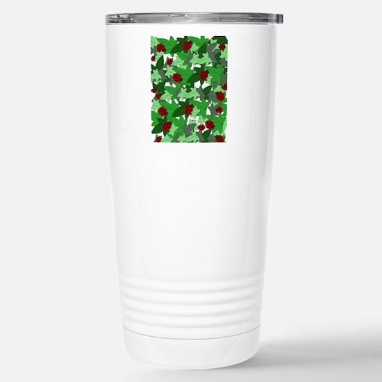 Ladybugs and Ivy white Stainless Steel Travel Mug