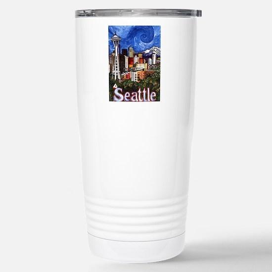 Seattle Skyline Stainless Steel Travel Mug