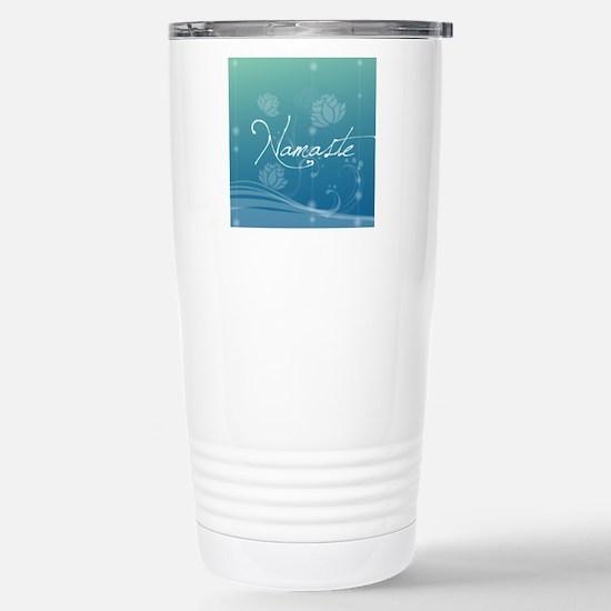 Namaste Snowflake Ornam Stainless Steel Travel Mug