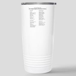 Boston-English Dictiona Stainless Steel Travel Mug
