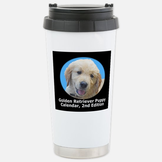 Golden Retriever Puppy Stainless Steel Travel Mug