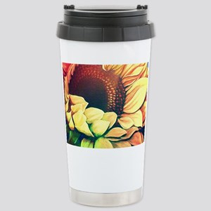Festive Sunflower Stainless Steel Travel Mug