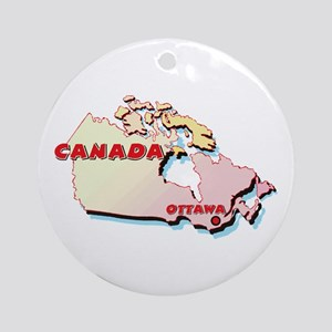 Canada Map  Ornament (Round)