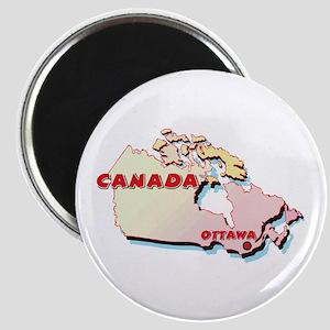 Canada Map Magnet