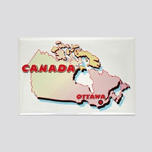 Canada Map Rectangle Magnet