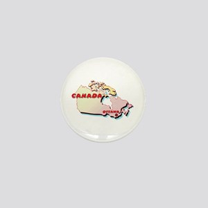 Canada Map Mini Button