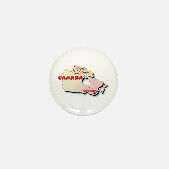 Canada Map Mini Button