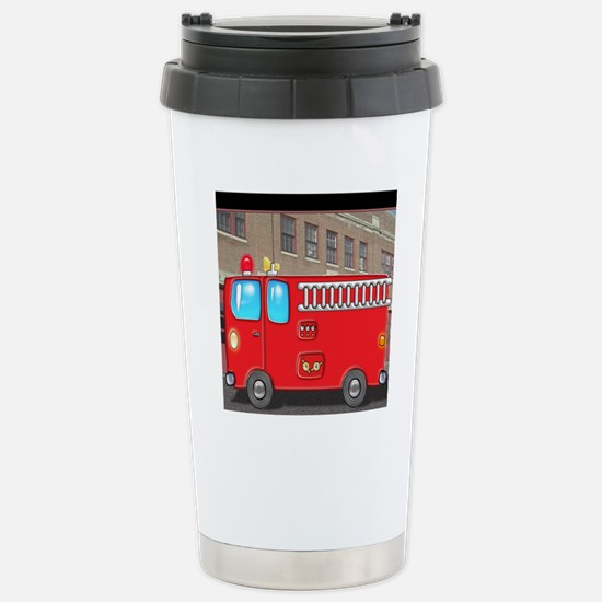 Fire Engine at the Stat Stainless Steel Travel Mug