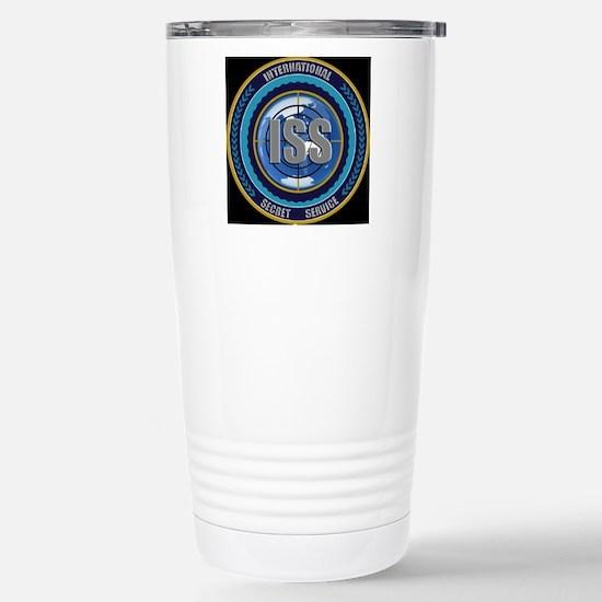 ISS Seal (black) Stainless Steel Travel Mug