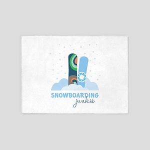 Snowboarding Junkie 5'x7'Area Rug