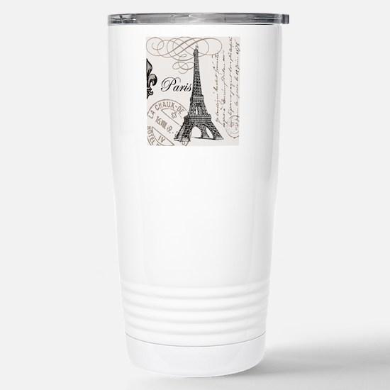 Vintage Paris Eiffel To Stainless Steel Travel Mug