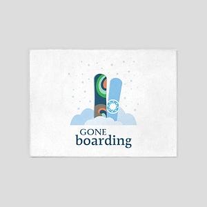 Gone Boarding 5'x7'Area Rug