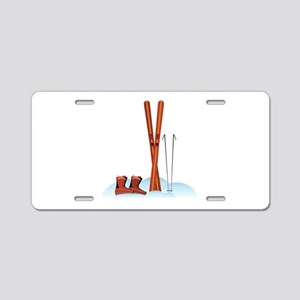 Ski Gear Aluminum License Plate