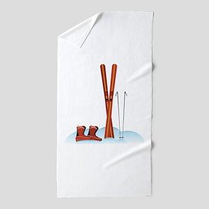 Ski Gear Beach Towel