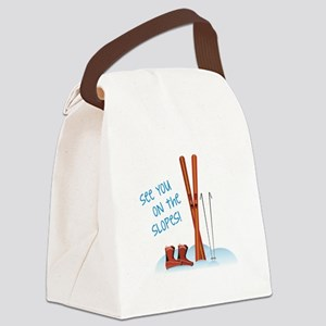 See you on the slopes! Canvas Lunch Bag